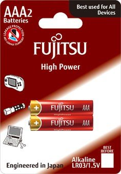 Fujitsu High Power alkalická batéria LR03/AAA, blister 2ks