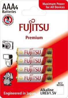 Fujitsu Premium Power alkalická batéria LR03/AAA, blister 4ks