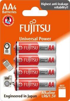 Fujitsu Universal Power alkalická batéria 1.5V, LR06/AA, blister 4ks