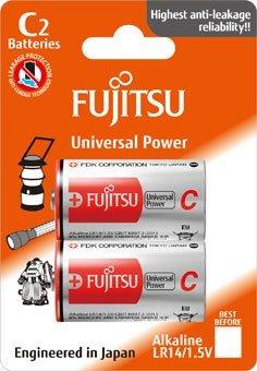Fujitsu Universal Power alkalická batéria LR14/C, blister 2ks