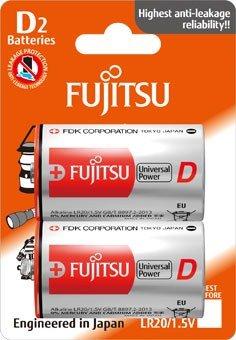 Fujitsu Universal Power alkalická batéria LR20/D, blister 2ks