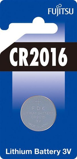 Fujitsu gombíková lítiová batéria CR2016, blister 1ks