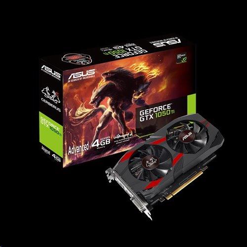 ASUS CERBERUS-GTX1050TI-A4G 4GB/128-bit GDDR5, DVI, HDMI, DP