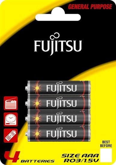 Fujitsu zinková batéria 1.5V, R03/AAA, blister 4ks