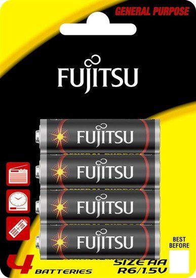 Fujitsu zinková batéria R06/AA, blister 4ks