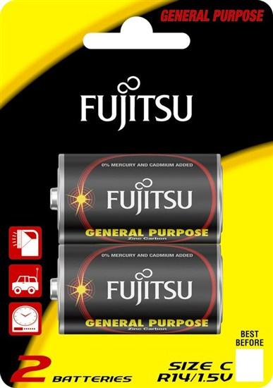 Fujitsu zinková batéria R14/C, blister 2ks