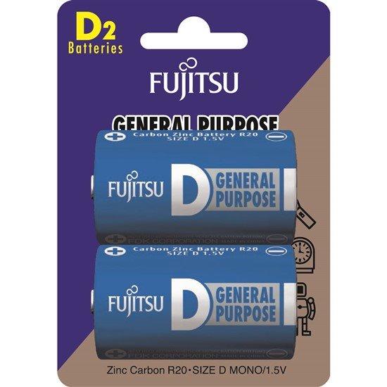 Fujitsu zinková batéria R20/D, blister 2ks