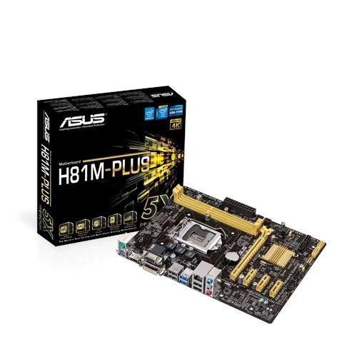ASUS H81M-P PLUS soc.1150 H81 DDR3 mATX 1xPCIe USB3 GL iG D-Sub DVI HDMI