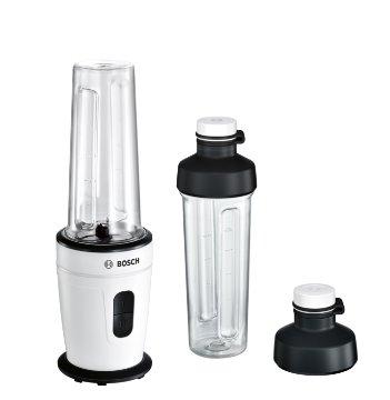 BOSCH_350 W, 20.000 ot./min., 2 rýchlosti, nerez nôž, drvenie ľadu, bez BPA, 2x fľaša ToGo 500 ml, biela