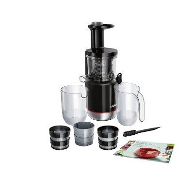 BOSCH_150 W, MixControl - nastavenie hustoty nápoja, odolný tritanový šnek, 3 filtre, tichá prevádzka, spätný chod