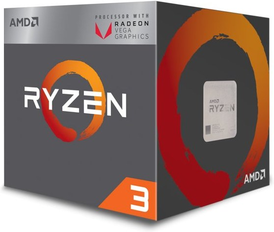 AMD, Ryzen 3 2200G, Processor BOX, soc. AM4, 65W, RX Vega Graphics s Wraith Stealth chladičom