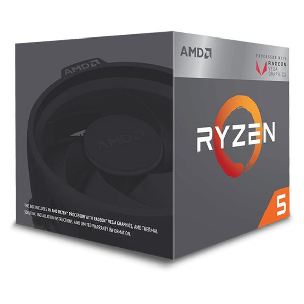 AMD, Ryzen 5 2400G, Processor BOX, soc. AM4, 65W, RX Vega Graphics s Wraith Stealth chladičom