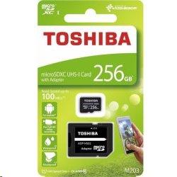 256 GB . microSDHC karta Toshiba Class 10 UHS + adaptér