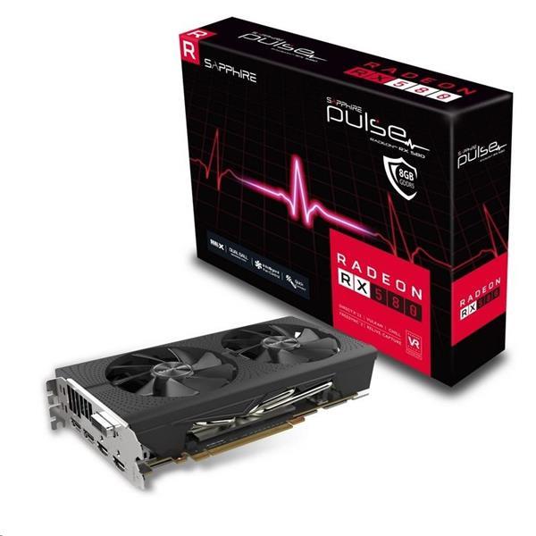 Sapphire Pulse Radeon RX 580 8GB/256-bit GDDR5 2xHDMI DVI-D 2xDP