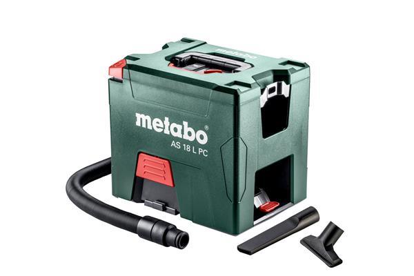 Metabo AS 18 L PC aku vysávač, 18V Li-Ion; Kartón; s manuálnym čistením filtra