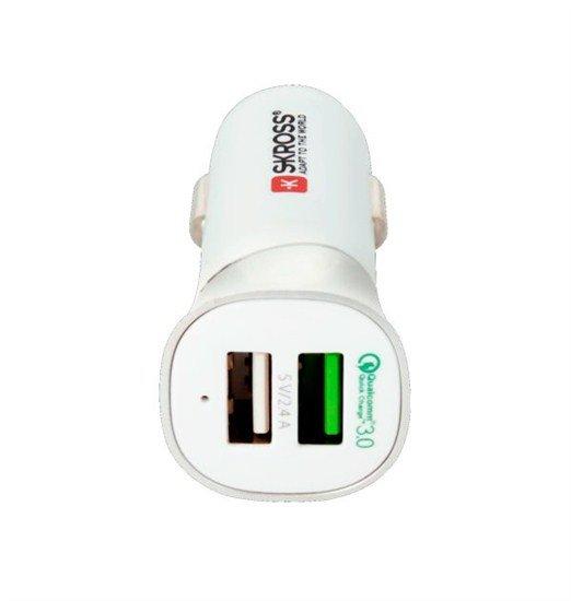 SKROSS Dual USB Car Quick Charger 3.0 nabíjací autoadaptér, 5400mA max.