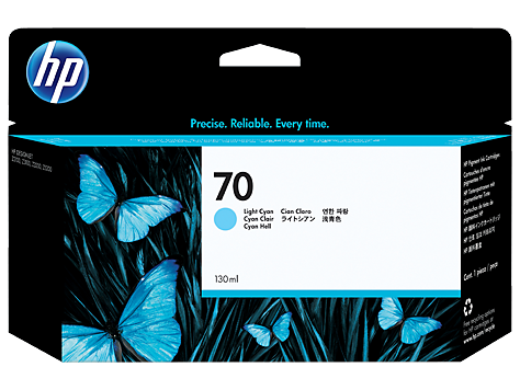 HP No 70 Ink Cart/130 ml Light Cyan w vi