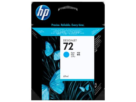 HP No72 Ink Cart/cyan 69ml