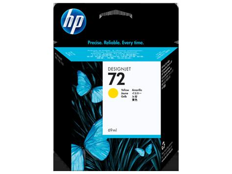 HP náplň č.72 žltá, 69ml