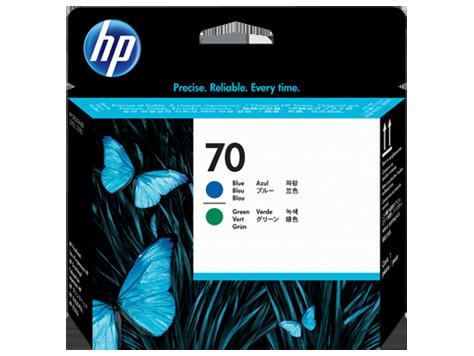 HP No 70 Ink Cart/Blue+Green Printhead