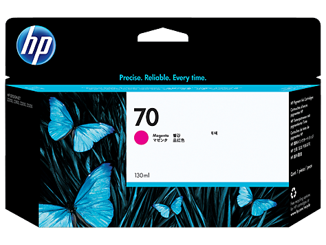 HP No 70 Ink Cart/130 ml Magenta w/viver
