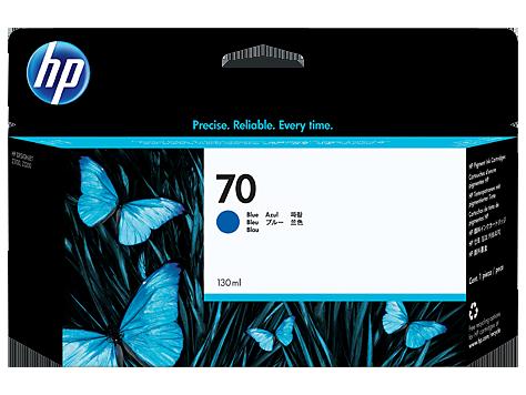 HP No 70 Ink Cart/130 ml Blue w/vivera
