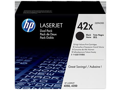 HP Toner/Black 20000sh LJ 4250/4350 2pk