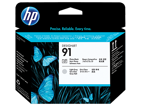 HP 91 Photo Black & Light Grey Printhead