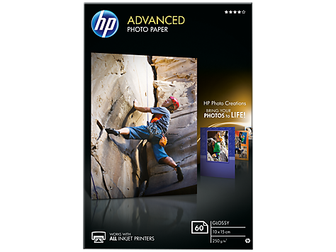 HP Paper Photo/Adv Glossy 10x15 bdl 60sh