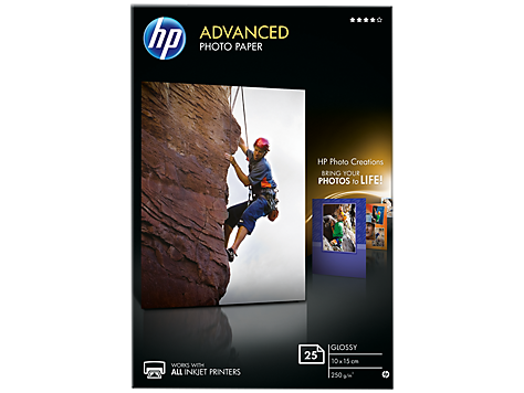 HP Paper Photo/Adv Glossy 10x15 bdl 25sh