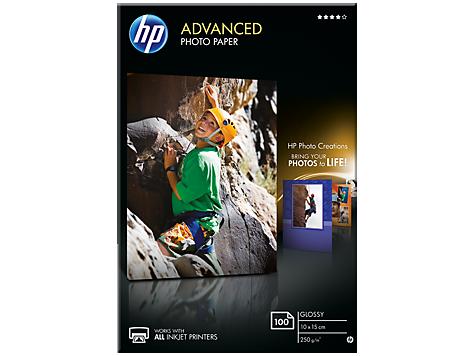 HP Zdokonalený lesklý fotografický papier HP Advanced Glossy Photo Paper -100 listov/10 x 15 cm, bez okrajov