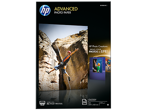 HP Paper Photo/Adv Glossy A3 20sh