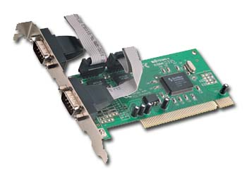 Radič do PCI slotu, 2x serial port