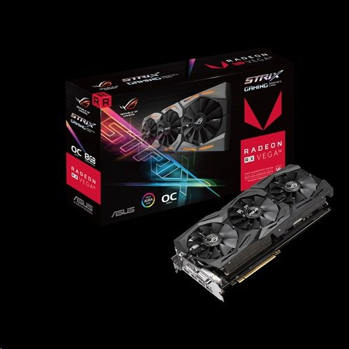 ASUS ROG-STRIX-RXVEGA56-O8G-GAMING 8GB/2048-bit, HBM2, DVI, 2xHDMI, 2xDP
