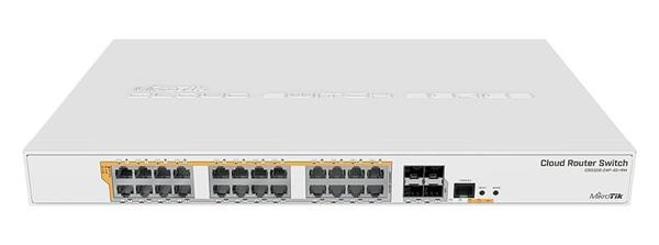 MIKROTIK RouterBOARD Cloud Router Switch CRS328-24P-4S+RM + L5 (800MHz; 512MB RAM; 24x GLAN POE; 4x SFP+) rack