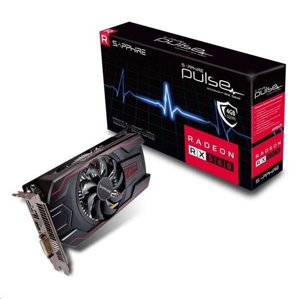 Sapphire Pulse Radeon RX 560 4GB/128bit GDDR5 HDMI DVI-D DP