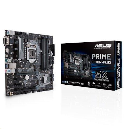 ASUS PRIME H370M-PLUS soc.1151 H370 DDR4 mATX M.2 USB3.1 D-Sub DVI HDMI
