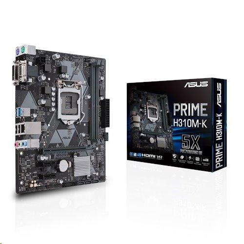 ASUS PRIME H310M-K soc.1151 H310 DDR4 mATX USB3 VGA DVI