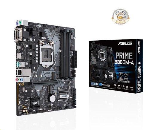 ASUS PRIME B360M-A soc.1151 B360 DDR4 mATX M.2 USB3.1 HDMI DVI VGA