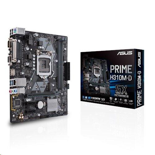 ASUS PRIME H310M-D soc.1151 H310 DDR4 mATX USB3 M.2 VGA HDMI COM LPT