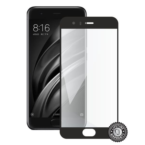 Screenshield XIAOMI Mi6 Global Tempered Glass protection (full COVER black) - Film for display protection