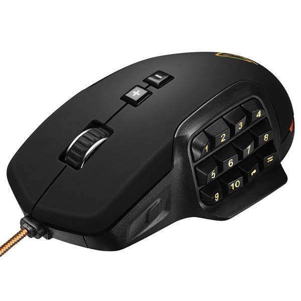 Canyon Despot CND-SGM9 prémiová hráčska myš, 1200-2400-3600-4800-6000-10000, 17 program. tlač, nast. hmotnosť, čierna