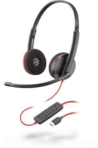 Plantronics BLACKWIRE C3220 USB-A, náhlavná súprava na obe uši, Stereo