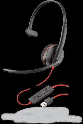 Plantronics BLACKWIRE C3210 USB-A, náhlavná súprava na jedno ucho so sponou