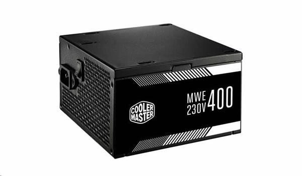 CoolerMaster zdroj MWE 400W, APFC, 12cm fan, 85 Plus čierny