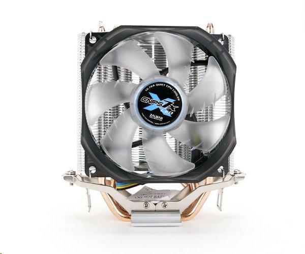 ZALMAN chladič CPU CNPS7X LED+ tichý 92mm modrý LED ventilátor, 3x heatpipe, univ. socket