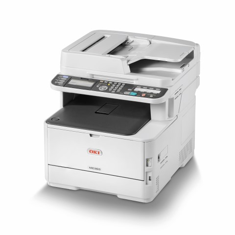 OKI MC363dnw farebna MFP A4 far 26str/min cier 30str/min, USB, NET, COPY, SCAN, DUPLEX, FAX, Wifi