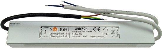 Solight LED napájací zdroj, 230V - 12V, 5A, 60W, IP65
