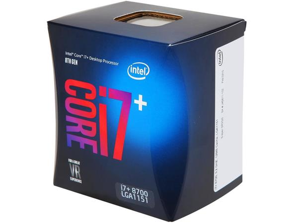 Intel® Core™i7-8700 processor, 3,20GHz,12MB,LGA1151 BOX, HD Graphics 630, + 16GB Optane memory