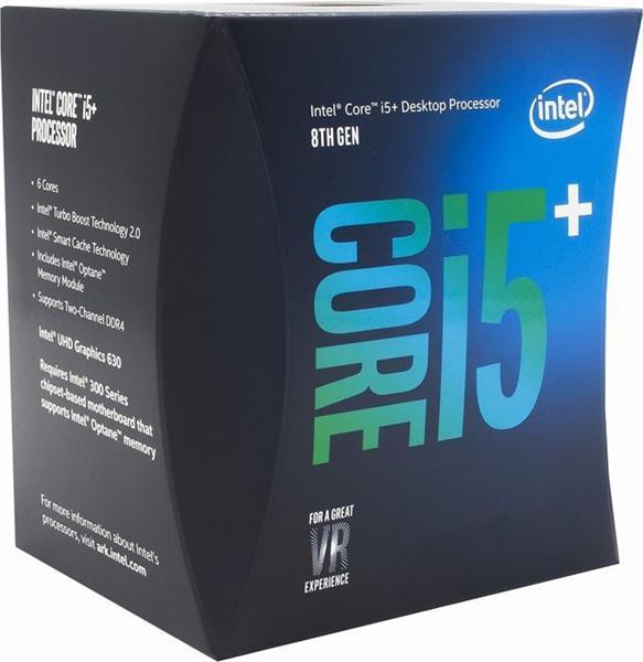 Intel® Core™i5-8400 processor, 2,80GHz,9MB,LGA1151 BOX, HD Graphics 630, + 16GB Optane memory